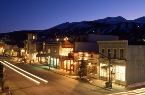 Scenic Night View of Town of Breckenridge