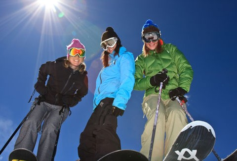Women skiers at Breckenridge