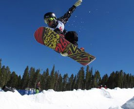 Snowboarding in Breckenridge superpipe