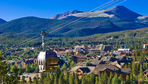 Breckenridge gondola in summer.