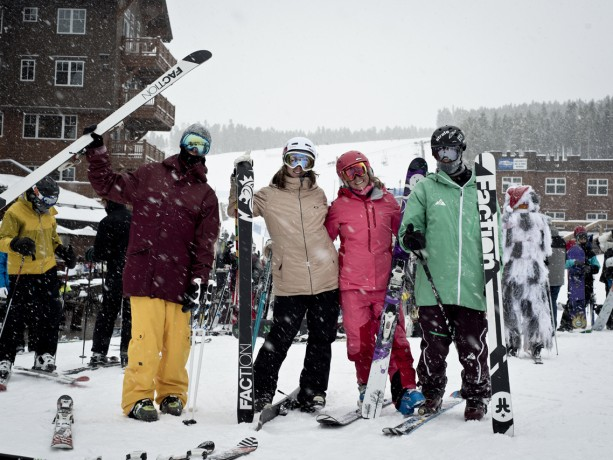 Faction Skiers in Breck