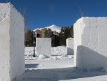 Snow blocks in Breckenridge