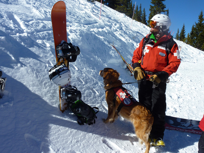Breck Ski Patrol and dog.