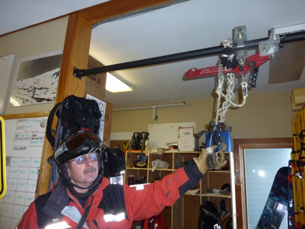 Ski patrol uses this rescue device in the unusual situation, if and when people get stuck on the gondola or chairlift.