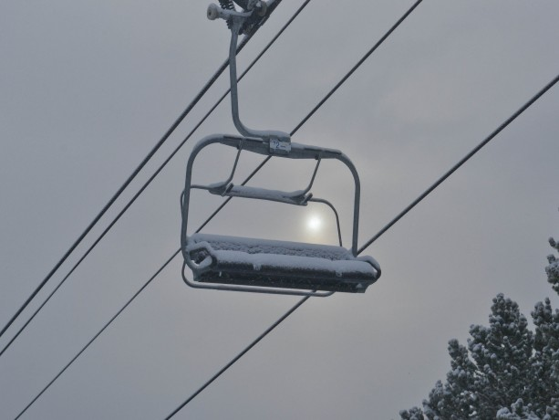 Snow covered lift
