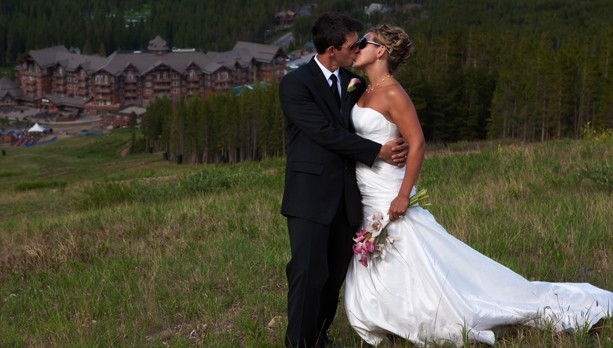 A wedding overlooking Ski HIll Grill