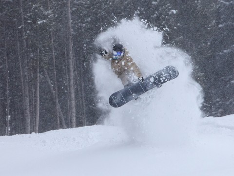 "10"" of new snow at Breck"