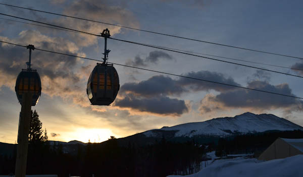 Gondola at sunrise