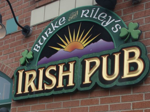 Burke & Riley's Irish Pub Sign