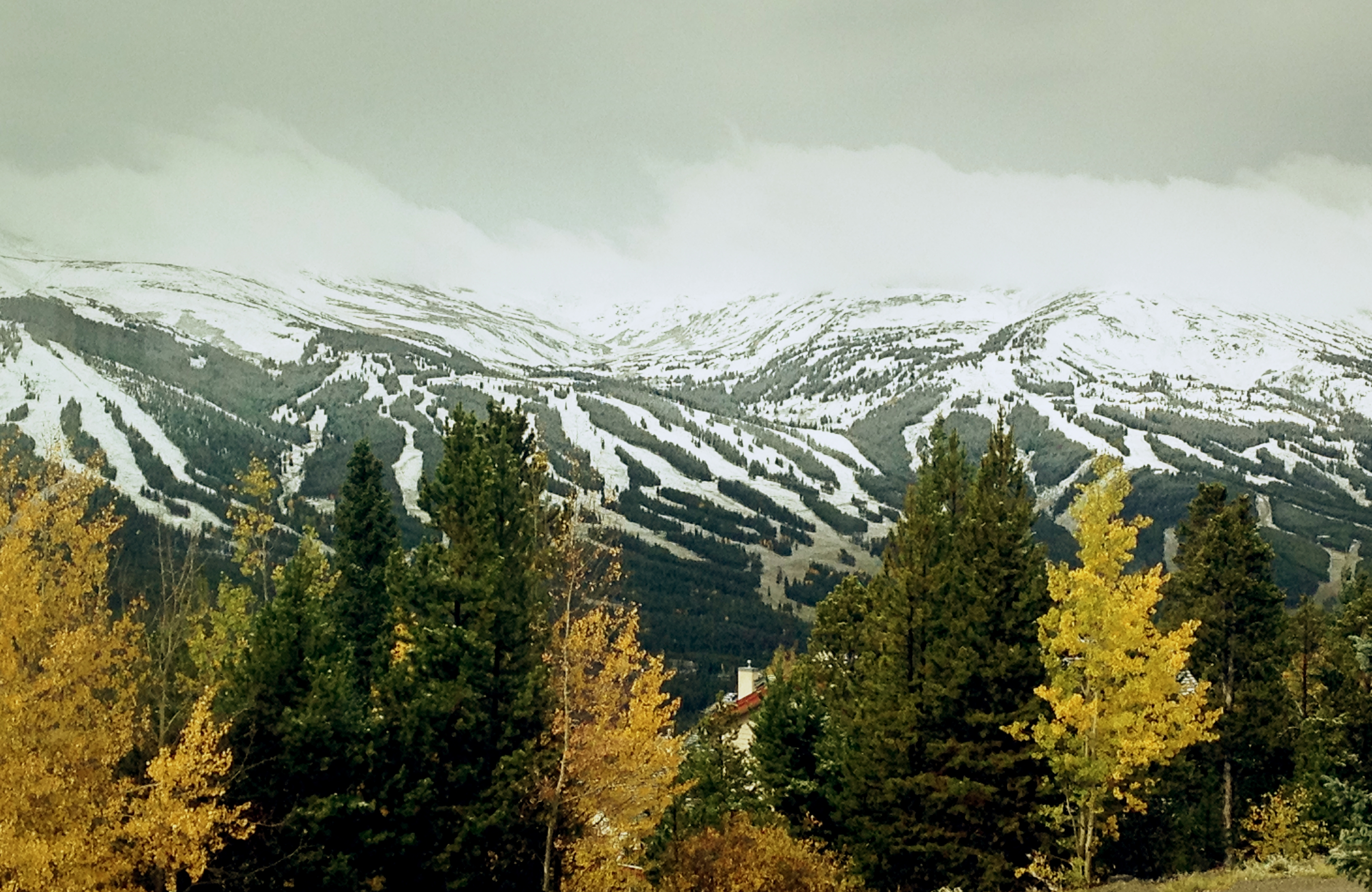 The first snow hits Breck