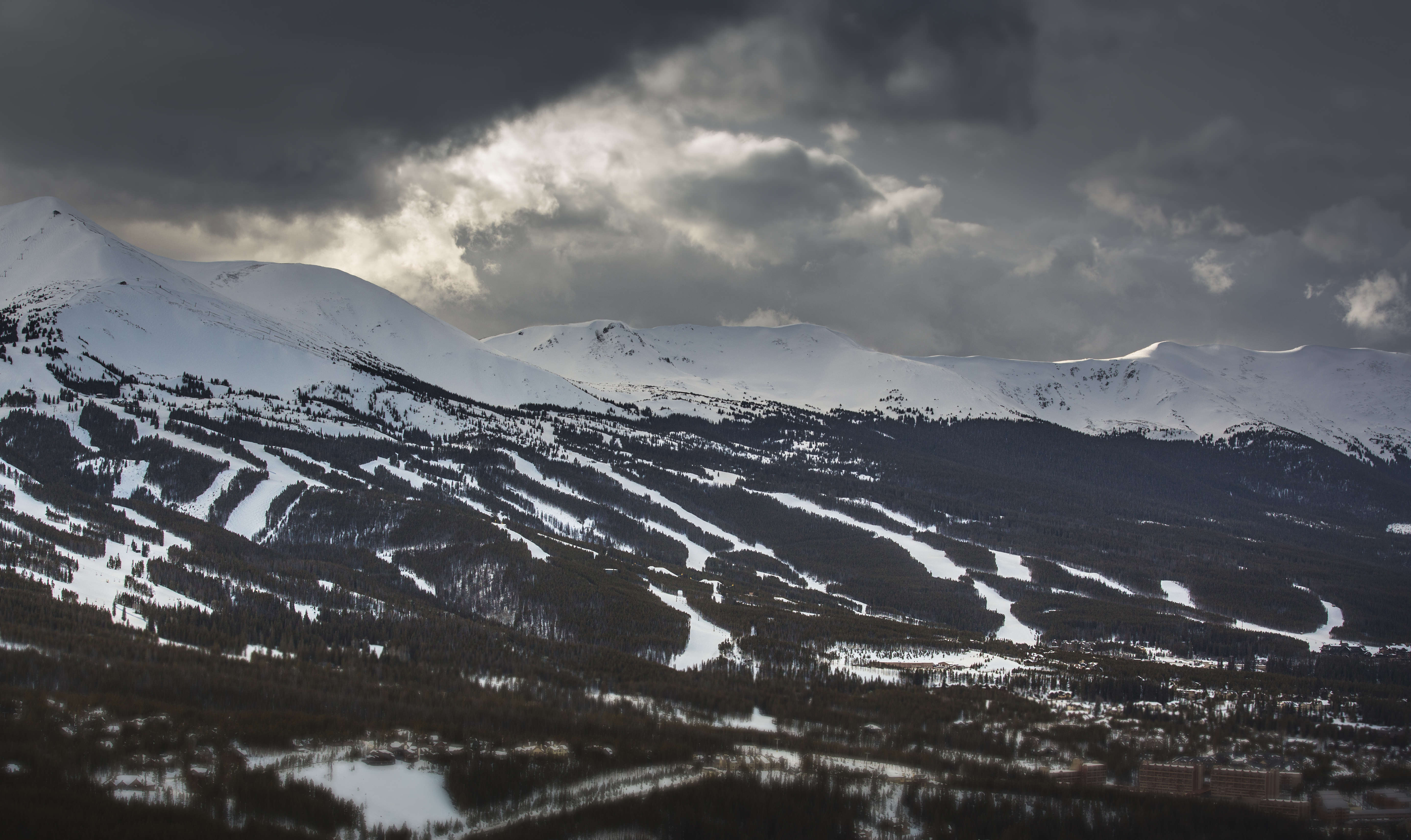 A panorama of the town of Breckenridge