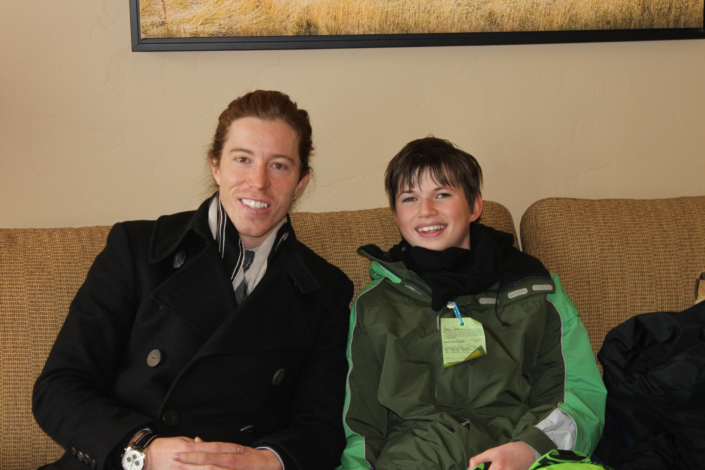 One lucky fan meets Shaun White at the Dew Tour.