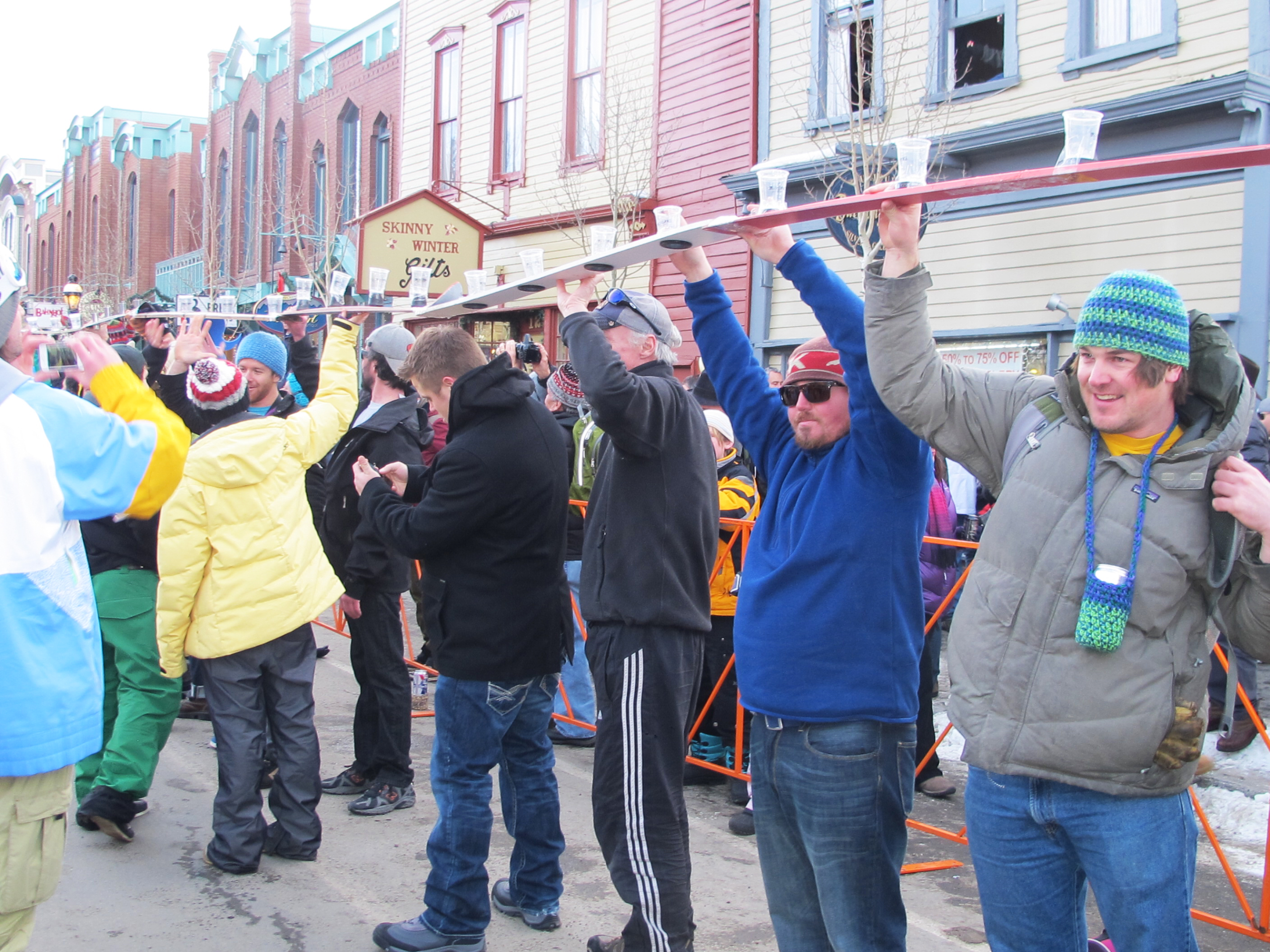 The World Record shot ski in Breck