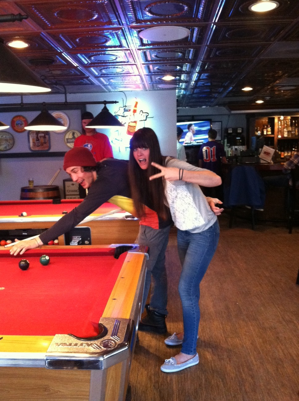 Keri Herman playing pool