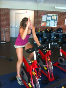 Anna Segal at the gym