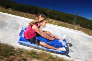 Girl on Alpine SLide