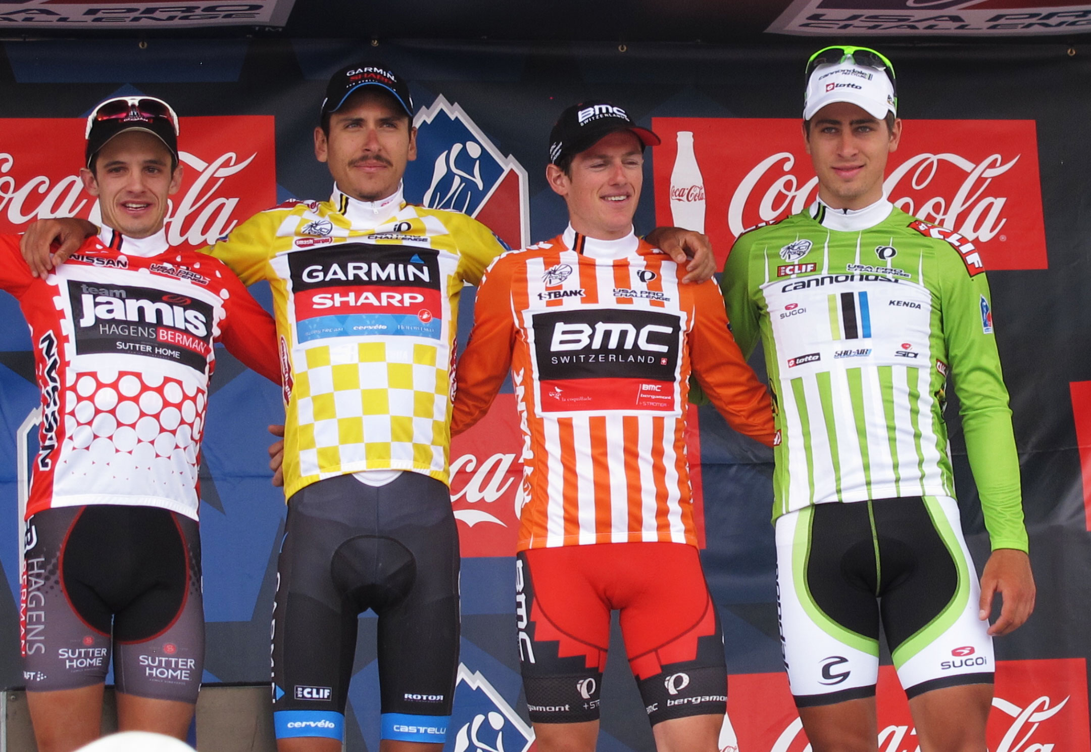 Top four jersey winners as of Stage 2