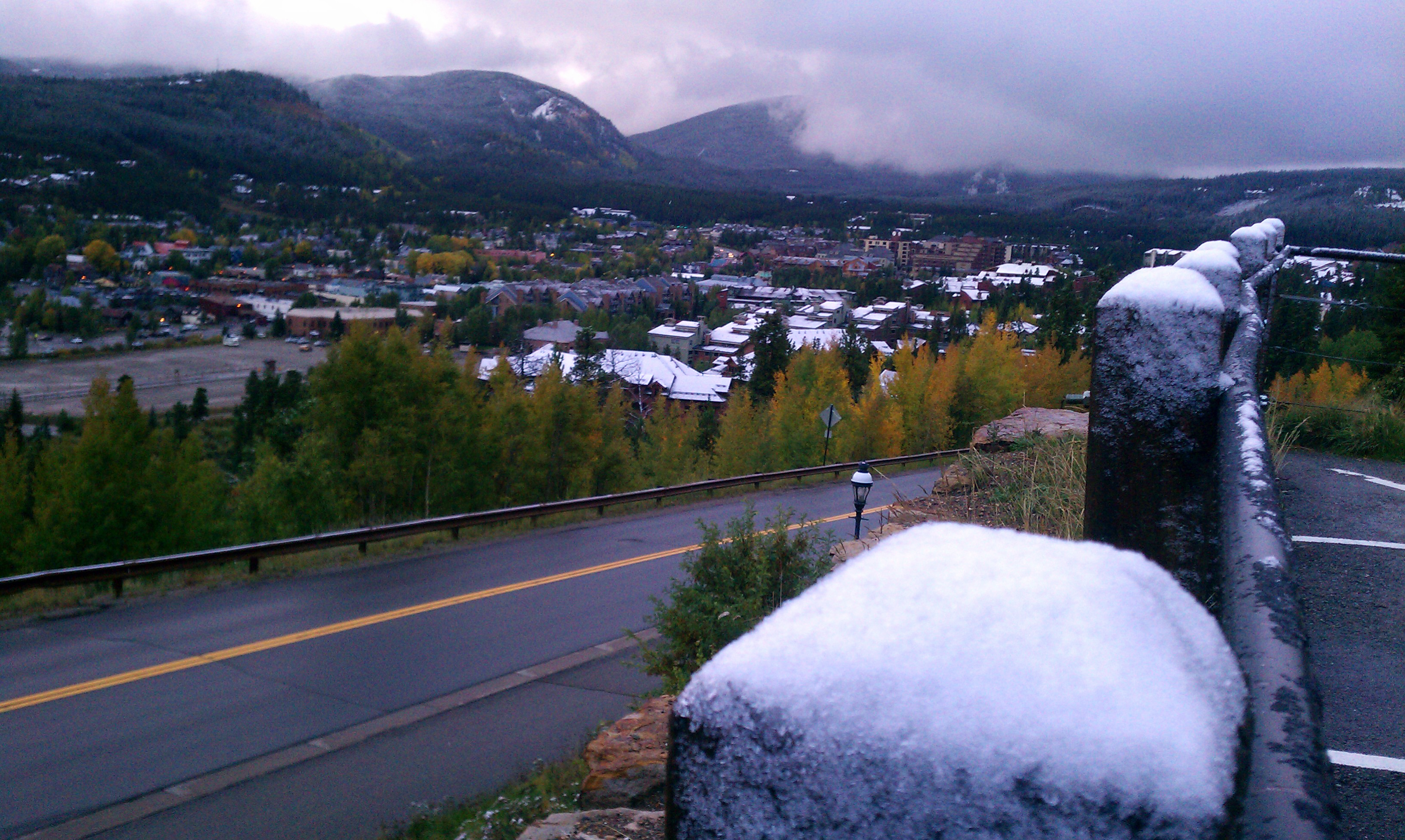 Ski Hill Road gets a dusting of snow
