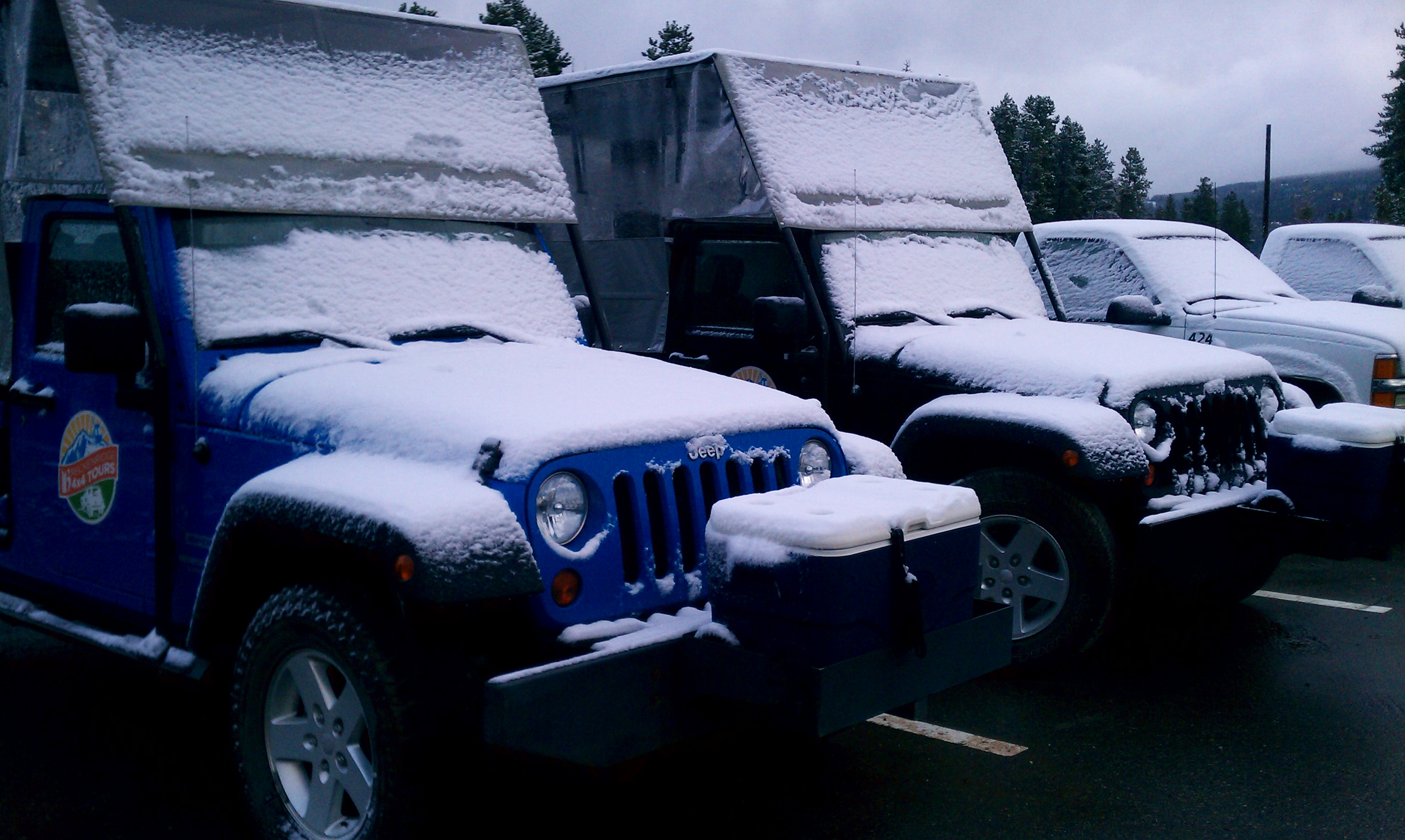 4x4 vehicles ready for weather