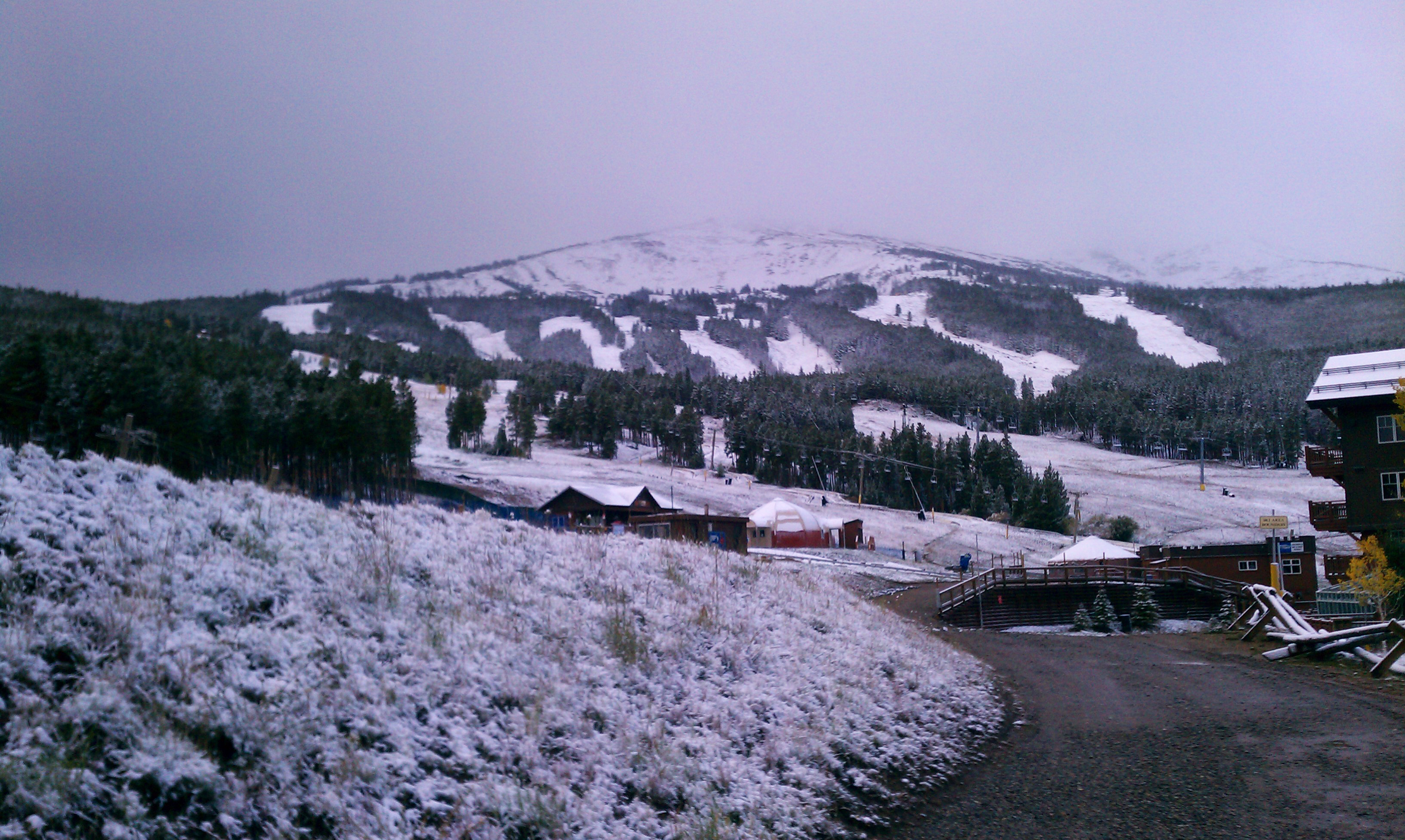 Peak 8 shows off the dusting