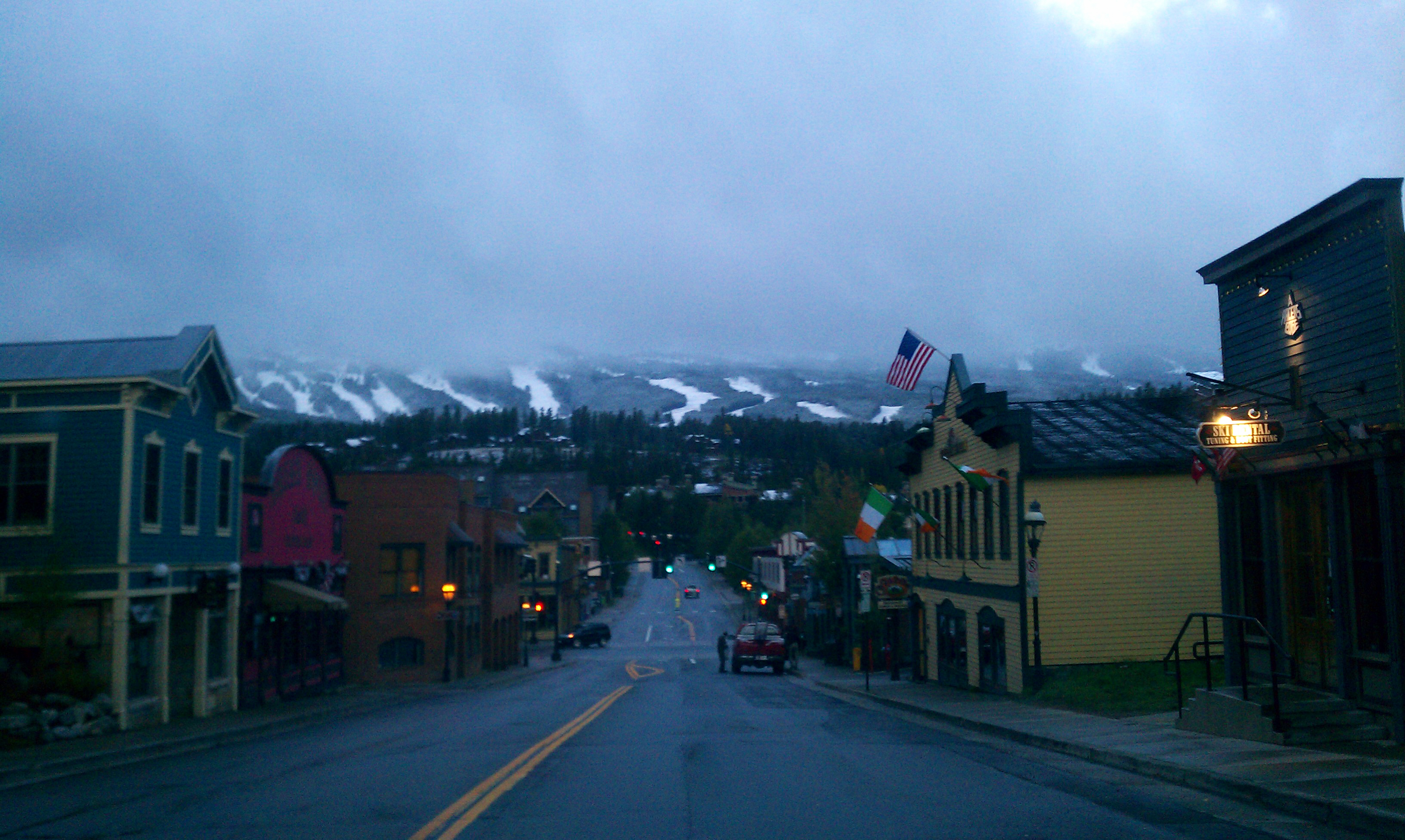 Main St. in the morning