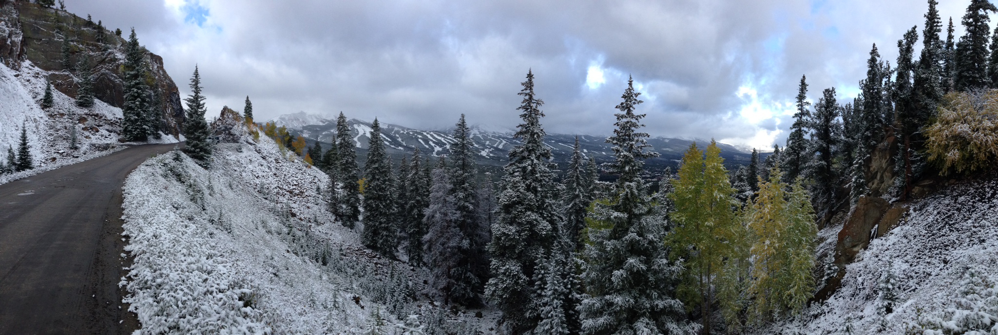 The view of the valley in Breck