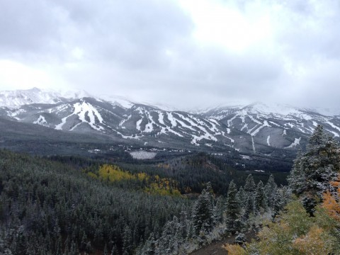 Breckenridge Ski Resort with snow