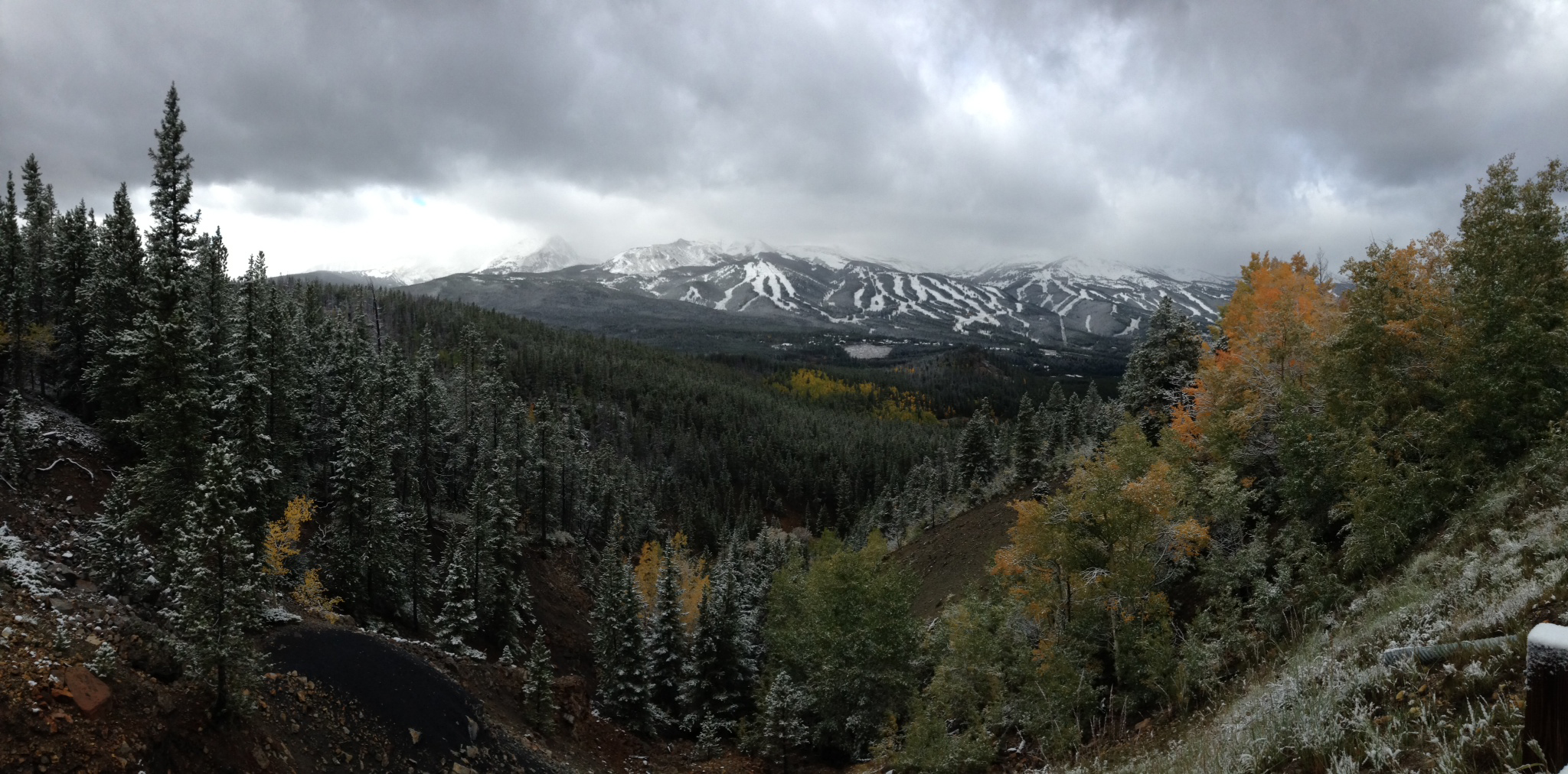 Breck with snow