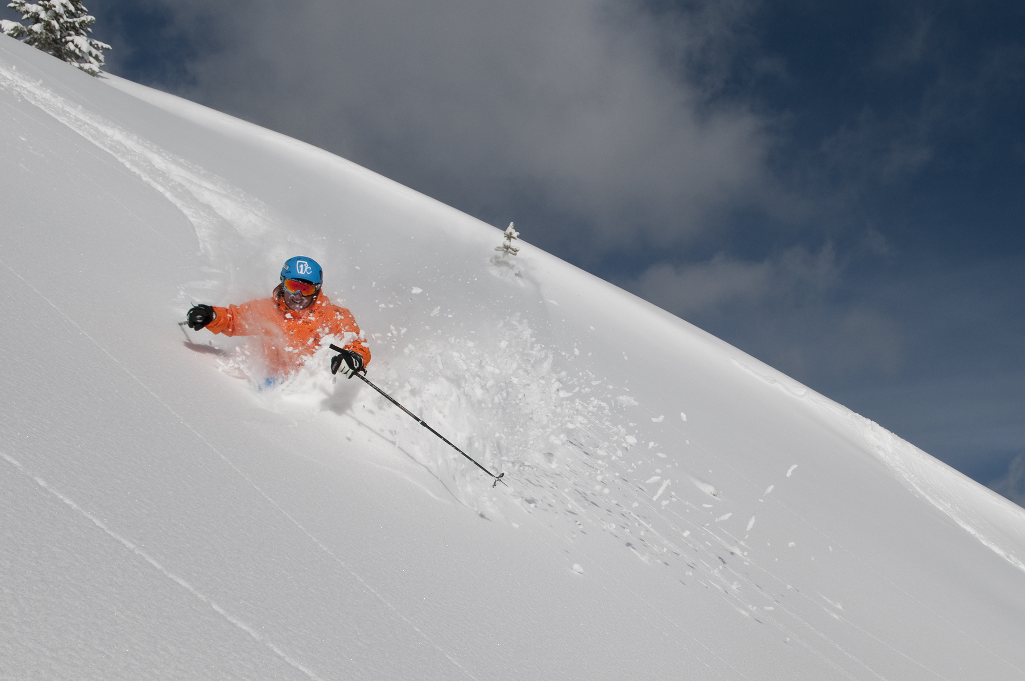 Powder skiing in Breck