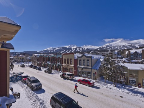 Town of Breckenridge in the Winter