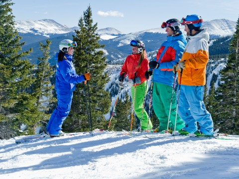Ski lessons at Breck
