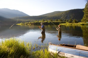 Fly fishing in Breck