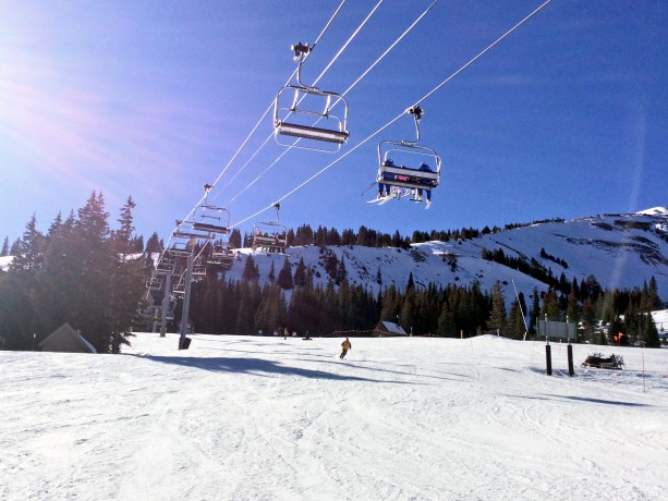 chair lift over groomed run