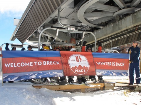 First chair at opening day at Breck