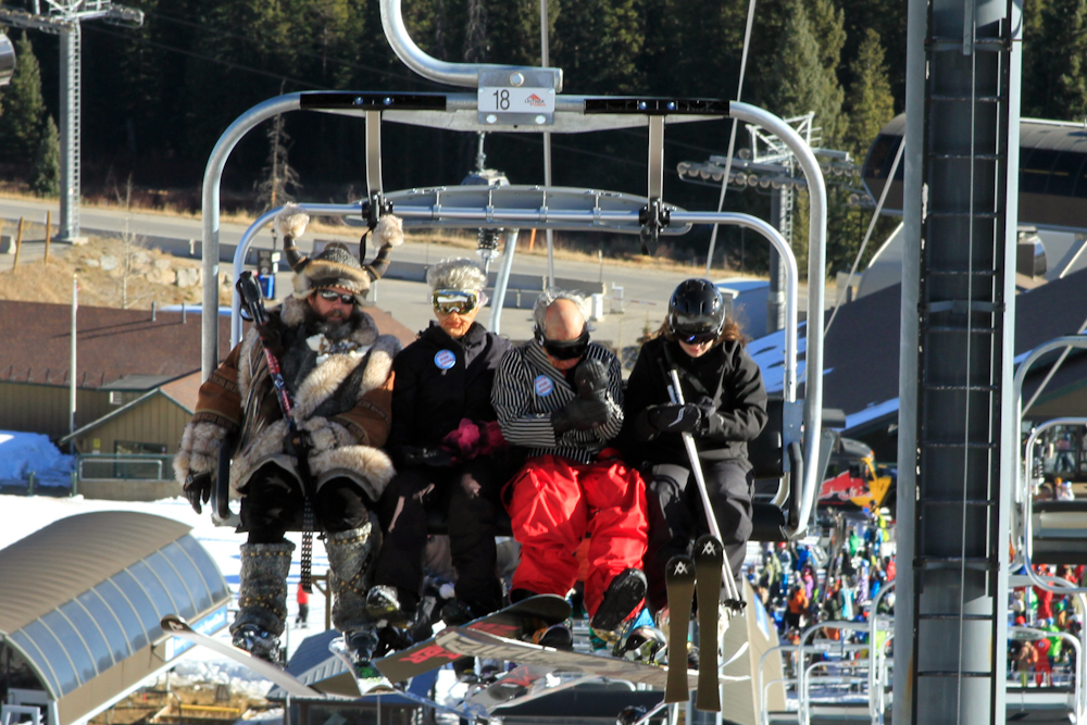 Opening day at Breck