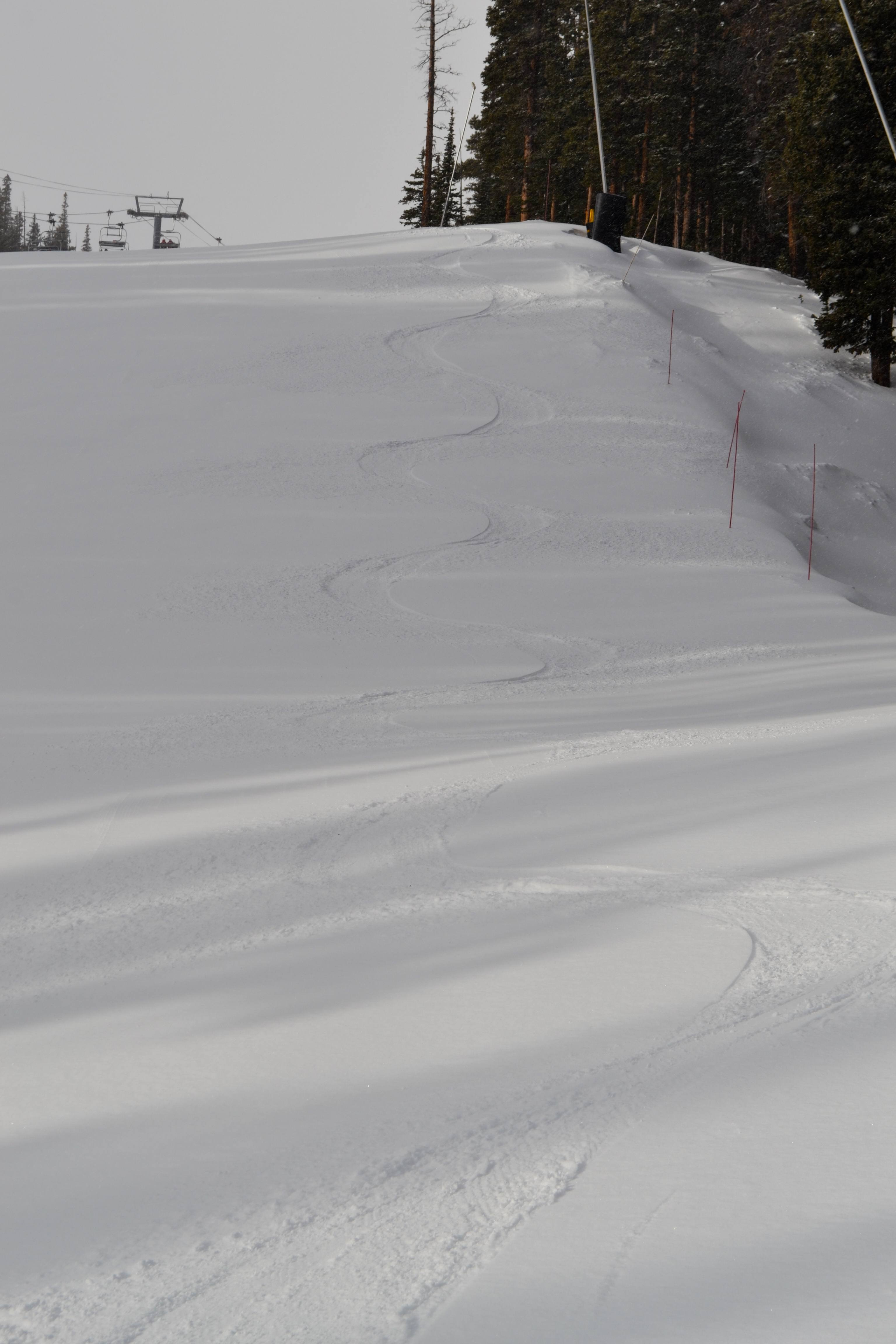 Powder turns at Breck