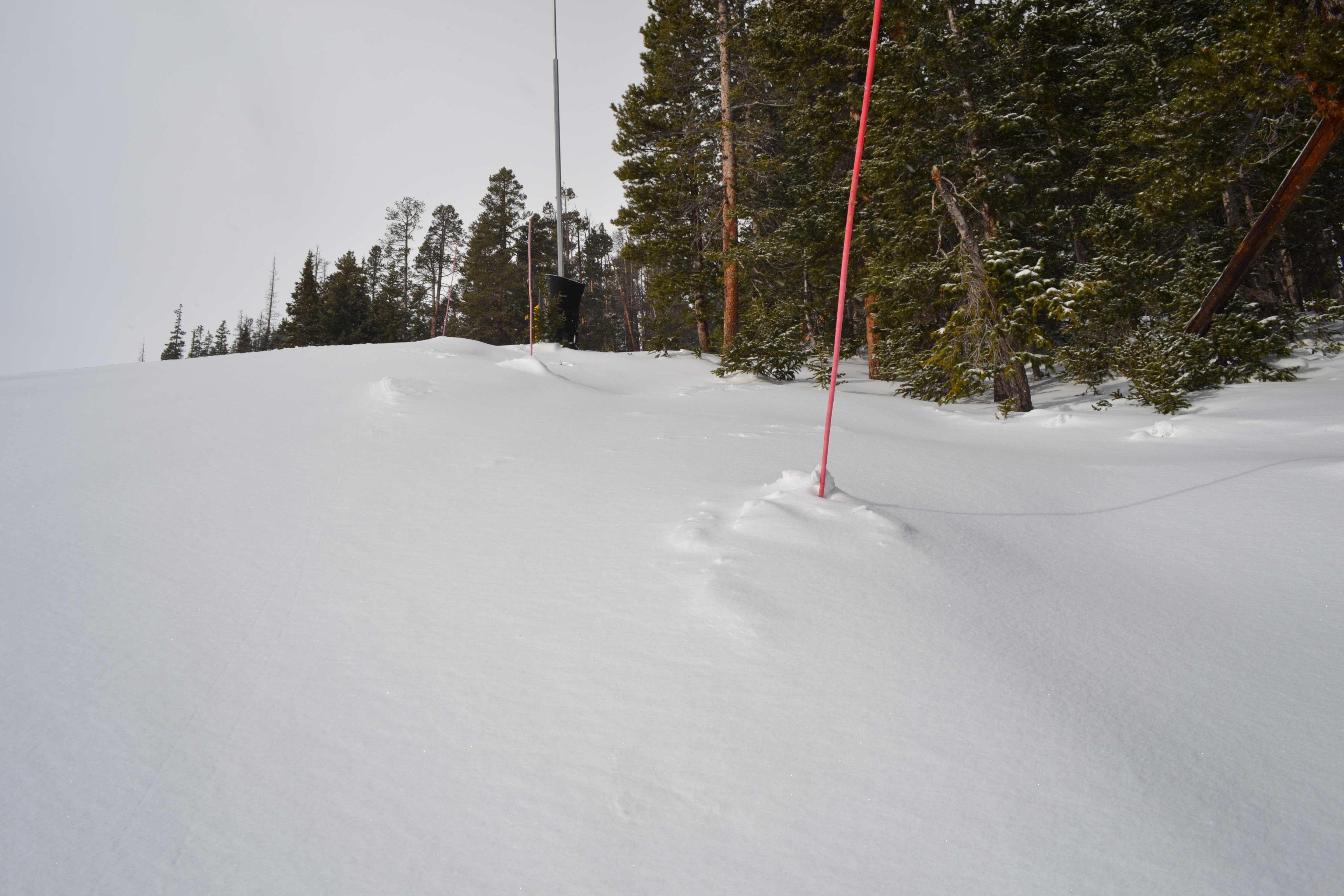 Snow filling in at Breck