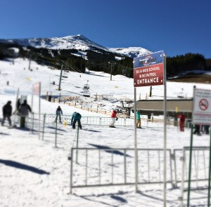 base of mountain ski and ride school