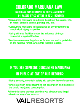 Marijuana laws in Breckenridge