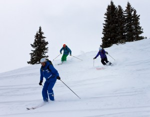 back country skiing Breck Guides