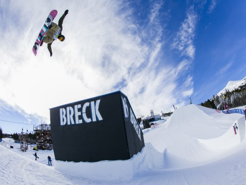 Slopestyle course at Dew Tour