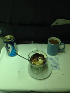 The perks of getting upgraded to first class.