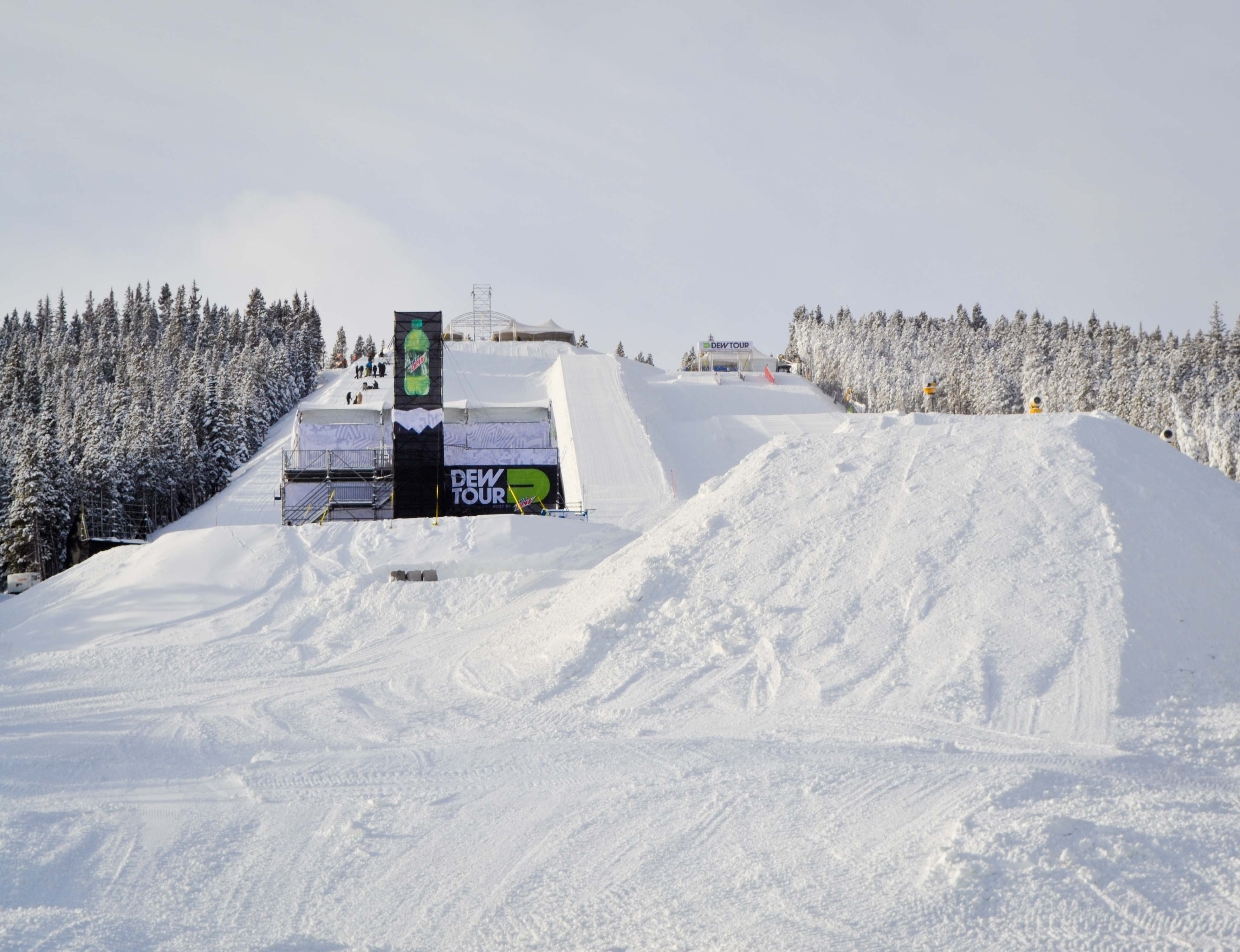 Looking up the Dew Tour course