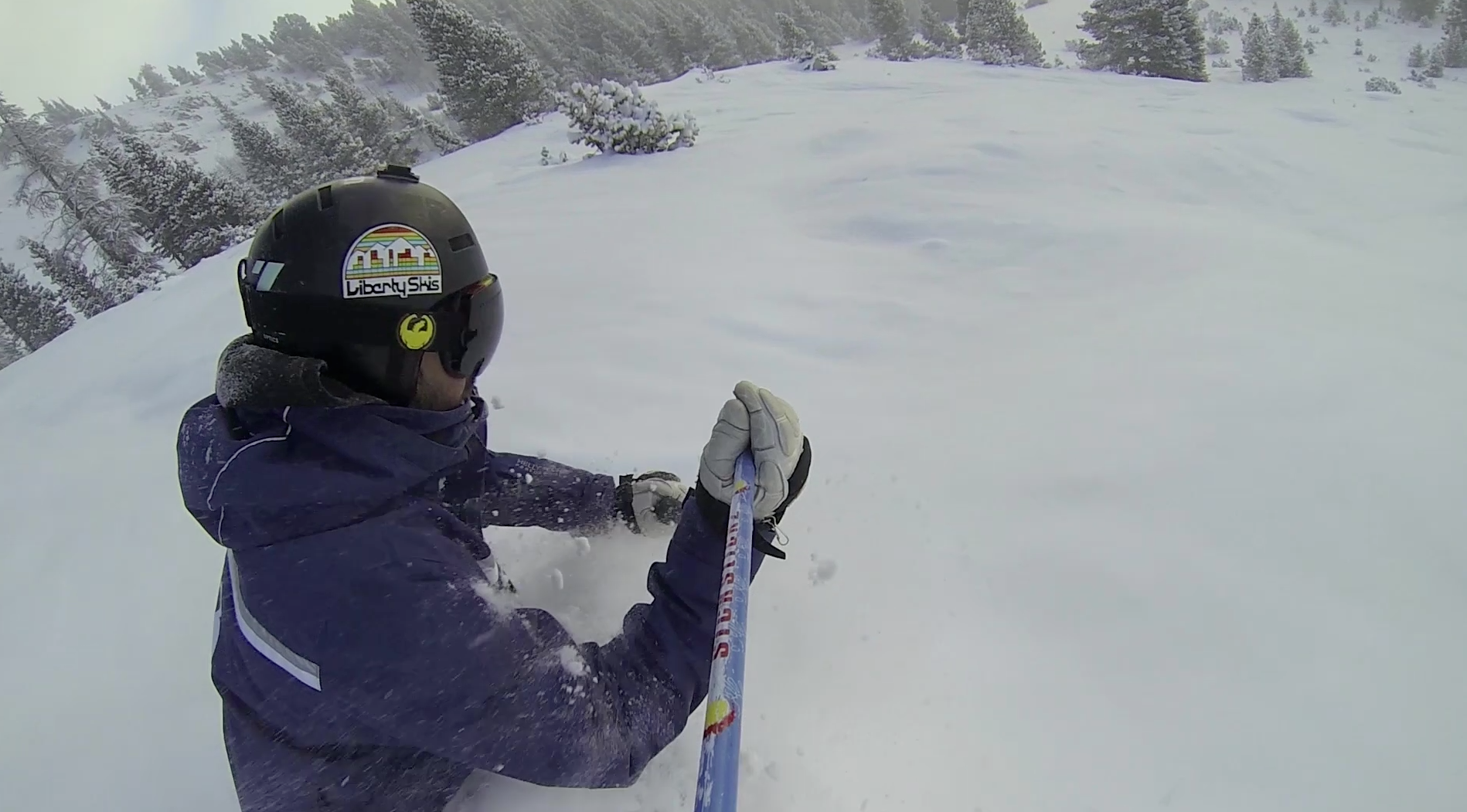 Powder Skiing on Chair 6