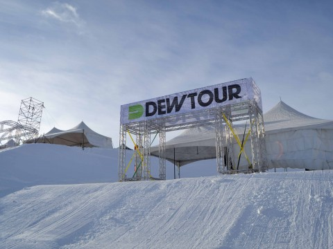Top of the Dew Tour course at Breck