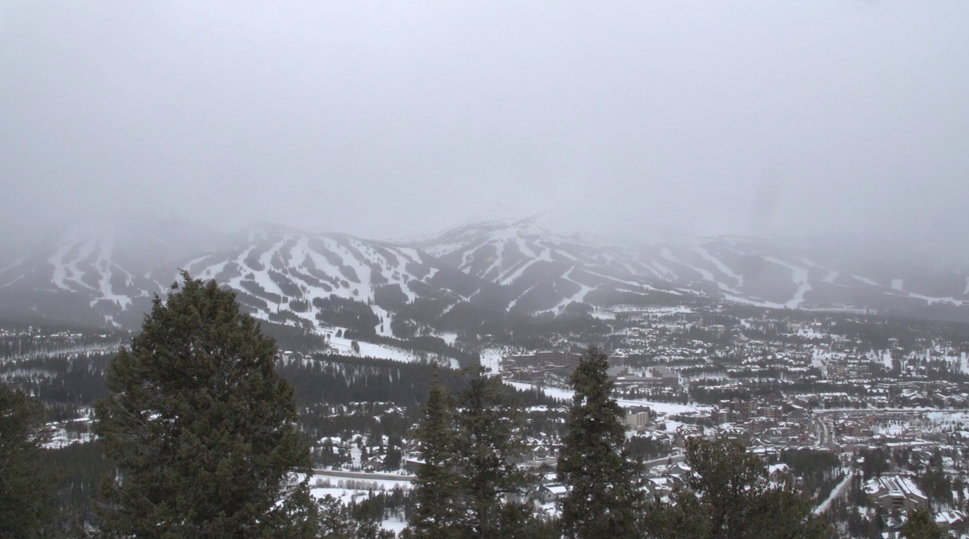 Breck as the storm rolls in