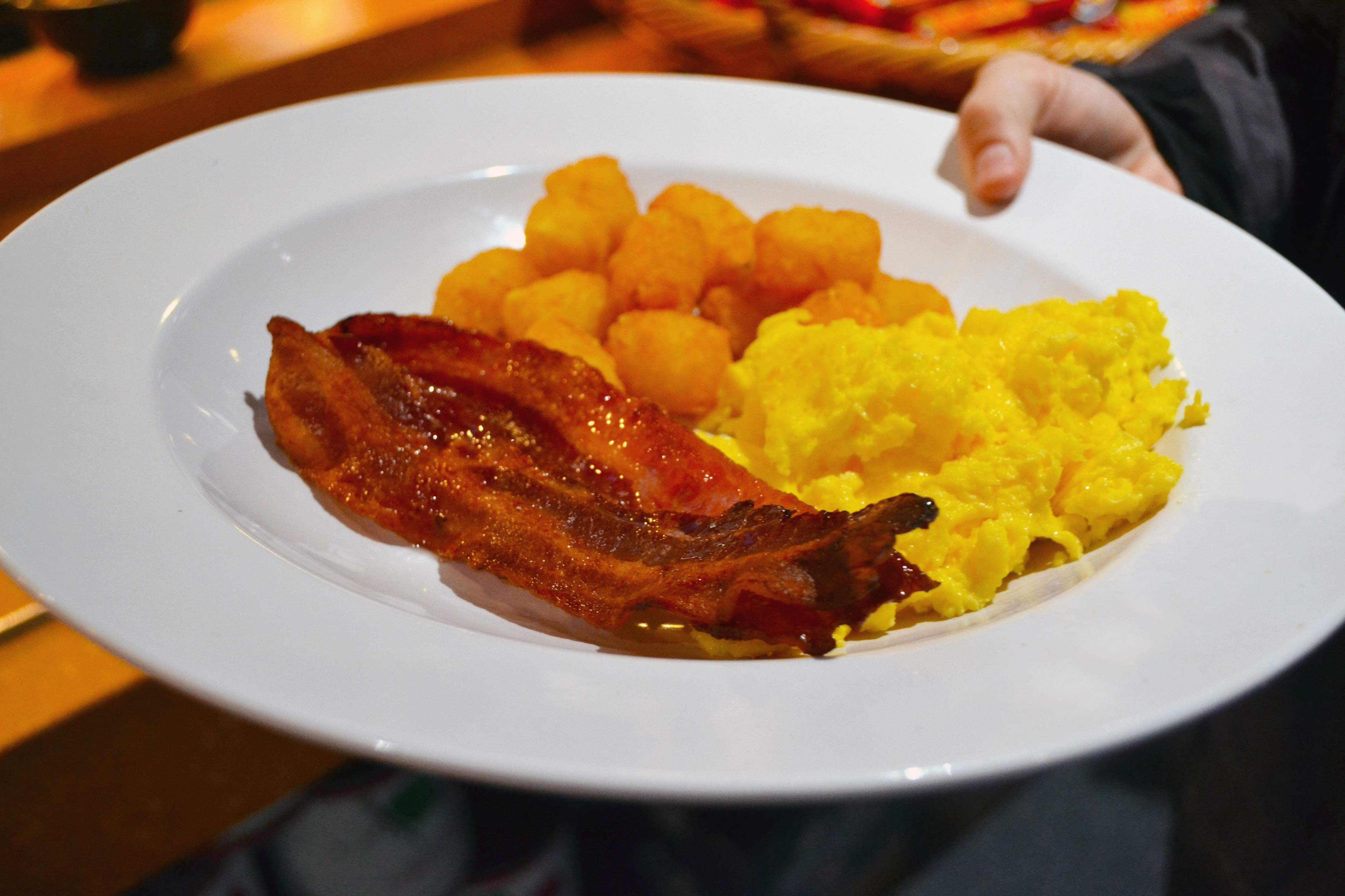 Bacon & Eggs with a side of hash browns