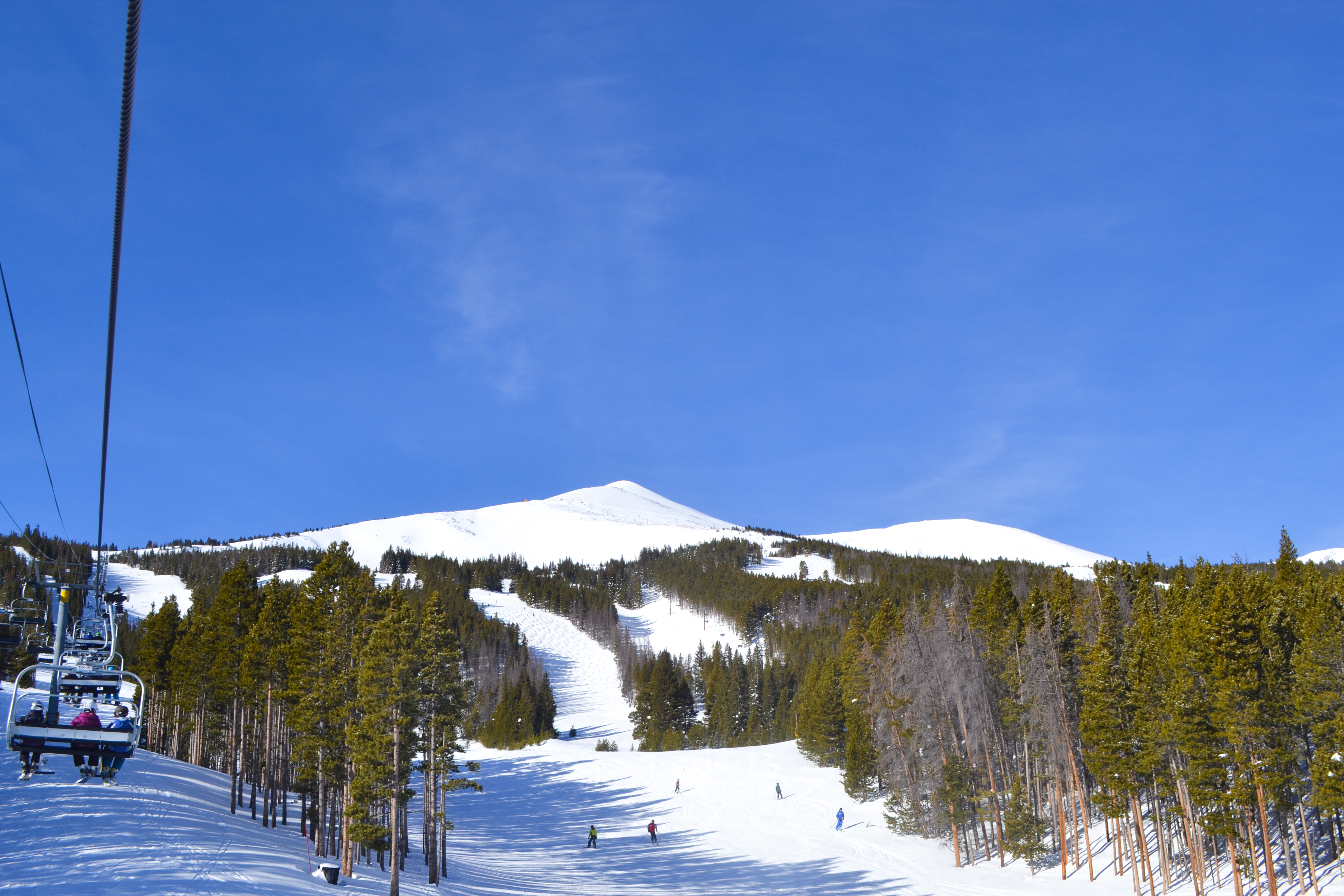 Sunny and warm February day in Breckenridge