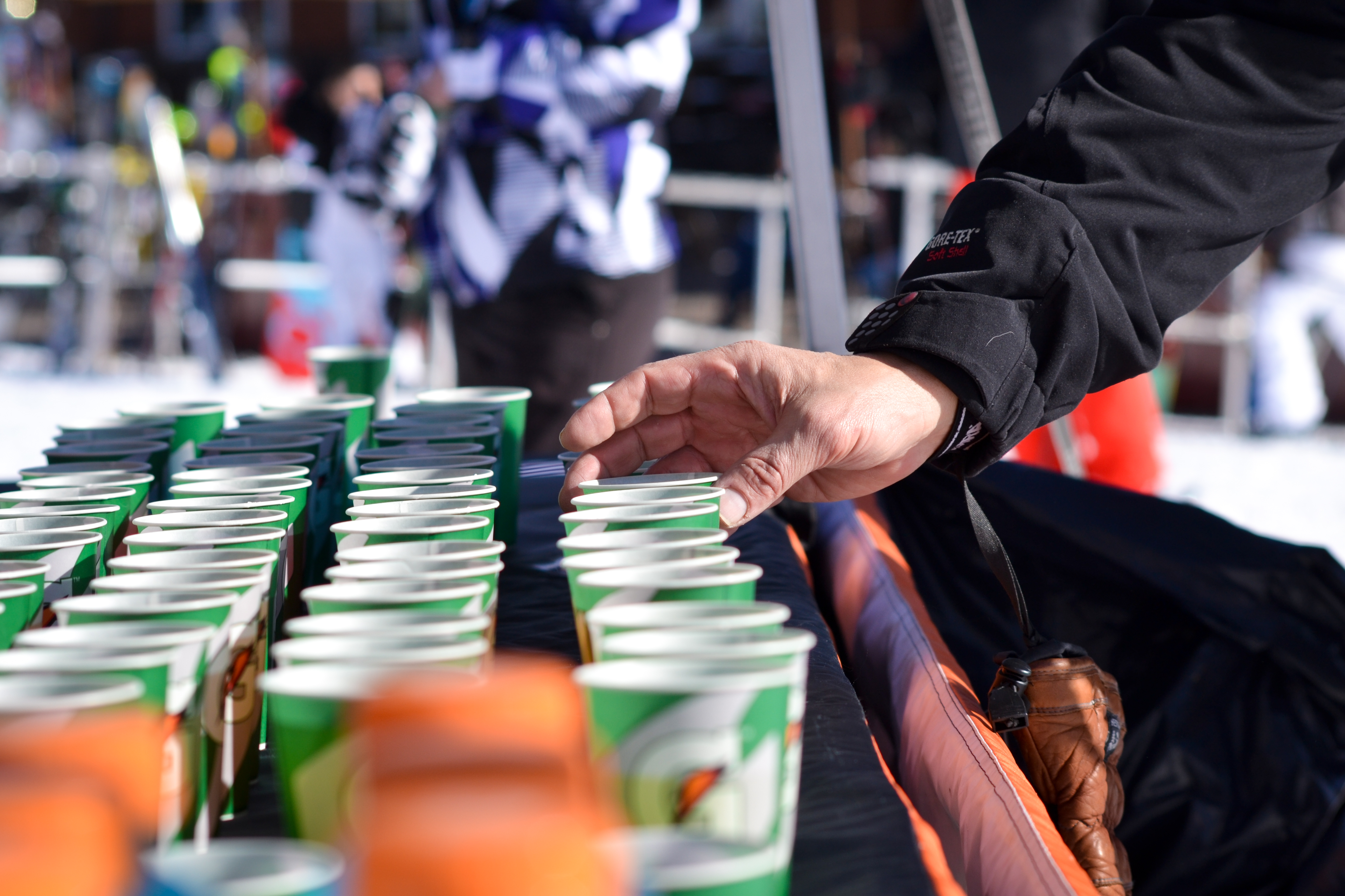 Gatorade came out to help keep people hydrated