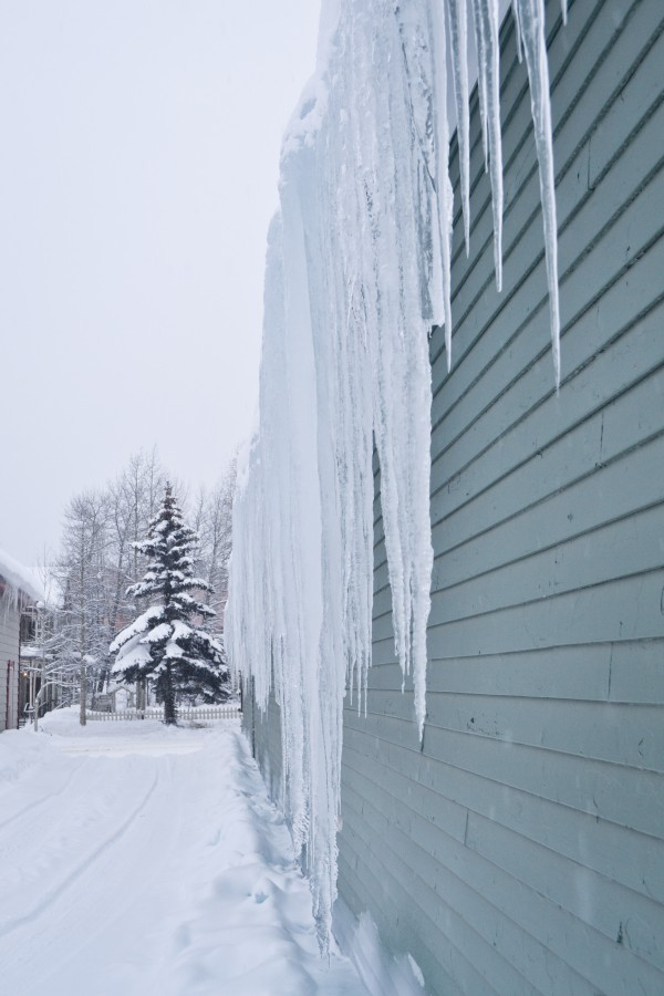 Large icicles in Breckenridge